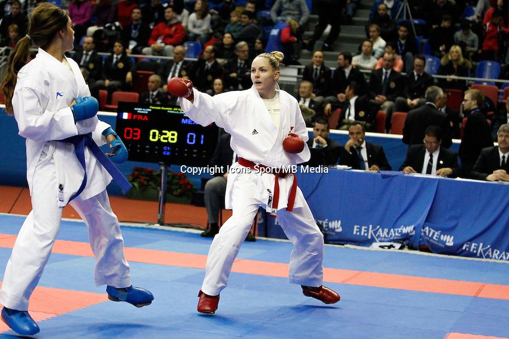 Alizee AGIER - 24.01.2015 - Open de Paris - Karate Premier League -<br />Photo : Johnny Fidelin / Icon Sport