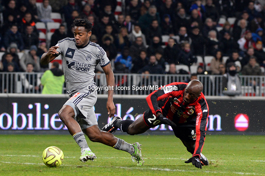 Michy BATSHUAYI   - 23.01.2015 - Nice / Marseille - 22eme journee de Ligue 1<br />
