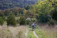 Vernon, New Jersey - Hikers walk on Appalachian Trail toward Wawayanda Mountain on Sept. 22, 2012.