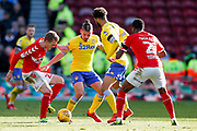 Leeds United midfielder Kalvin Phillips (23) in action  during the EFL Sky Bet Championship match between Middlesbrough and Leeds United at the Riverside Stadium, Middlesbrough, England on 9 February 2019.