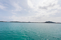 Tropical blue sea with island in background; Koh Samui; Thailand