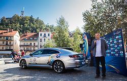 Aleks Stolfa, tournament director during presentation of VW Volkswagen car company as an official mobility partner of Futsal EURO 2018 in Ljubljana, Slovenia, on September 28, 2017. Photo by Vid Ponikvar / Sportida