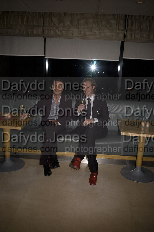 Tom Conran and Maximillion Cooper, The Eve Appeal Dinner, Nobu London,  Dinner in aid of Eve Appeal, Gynaecology Cancer Research Fund, 3 September 2007. -DO NOT ARCHIVE-© Copyright Photograph by Dafydd Jones. 248 Clapham Rd. London SW9 0PZ. Tel 0207 820 0771. www.dafjones.com.