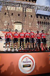 March 18, 2017 - San Remo, Italie - SANREMO, ITALY - MARCH 18 : Team Lotto - Soudal pictured at the start of the UCI WorldTour 108th Milan - Sanremo cycling race with start in Milan and finish at the Via Roma in Sanremo on March 18, 2017 in Sanremo, Italy, 18/03/2017 (Credit Image: © Panoramic via ZUMA Press)