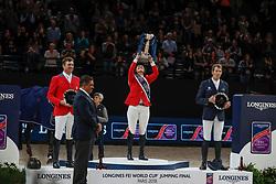 Madden Beezie, USA, Ryan Devin, USA, Von Eckermann Henrik, SWE<br /> LONGINES FEI World Cup™ Finals Paris 2018<br /> © Dirk Caremans<br /> 15/04/18