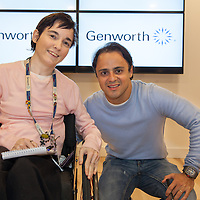 Genworth Employee Michelle Organ from Ennistymon meeting Formula One Driver Felipe Massa