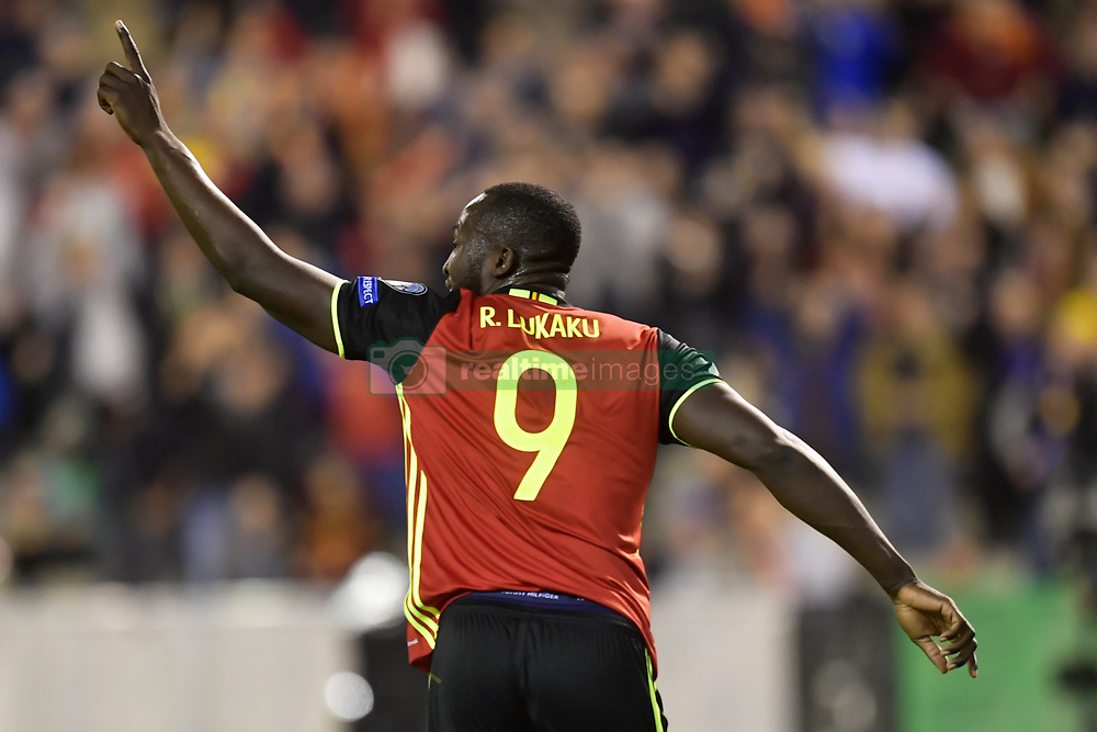 October 10, 2017 - Bruxelles, Belgique - Romelu Lukaku forward of Belgium celebrates scoring a goal (Credit Image: © Panoramic via ZUMA Press)
