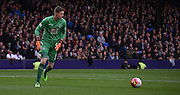 Wayne Hennessey looks for options during the Barclays Premier League match between Crystal Palace and West Ham United at Selhurst Park, London, England on 17 October 2015. Photo by Michael Hulf.