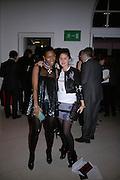 Susan Bender and Nikki Pennie,  Whitechapel and Hogan present Art Pls Drama Party 2007. Whitechapel Gallery. London. 8 March 2007. -DO NOT ARCHIVE-© Copyright Photograph by Dafydd Jones. 248 Clapham Rd. London SW9 0PZ. Tel 0207 820 0771. www.dafjones.com.