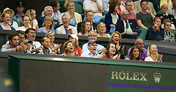 LONDON, ENGLAND - Thursday, June 28, 2012: Lukas Rosol (CZE) family and friends celebrate during the Gentlemen's Singles 2nd Round  match on day four of the Wimbledon Lawn Tennis Championships at the All England Lawn Tennis and Croquet Club. (Pic by David Rawcliffe/Propaganda)