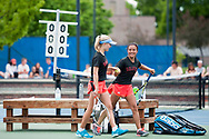 Greta Walser and Jennifer Wong. Idaho High School State Tennis Championships on May 20, 2017 at Boise State University's Appleton Tennis Complex, Boise, Idaho. <br /> <br /> Boise's girls doubles team of Jennifer Wong and Greta Walser won a thriller over Borah's Cassidy Binder and Madeline Krausteam, 6-4, 3-6, 7-6 (10-8) to claim the 5A girls doubles title.