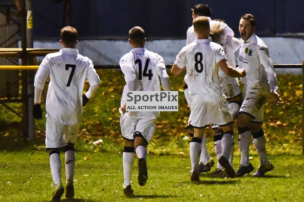 The LTHV players celebrate Scott Gormley's equaliser in the 3rd round Scottish Cup, Christie Park, Huntly. (c) Brian Battensby, www.sportpix.org.uk