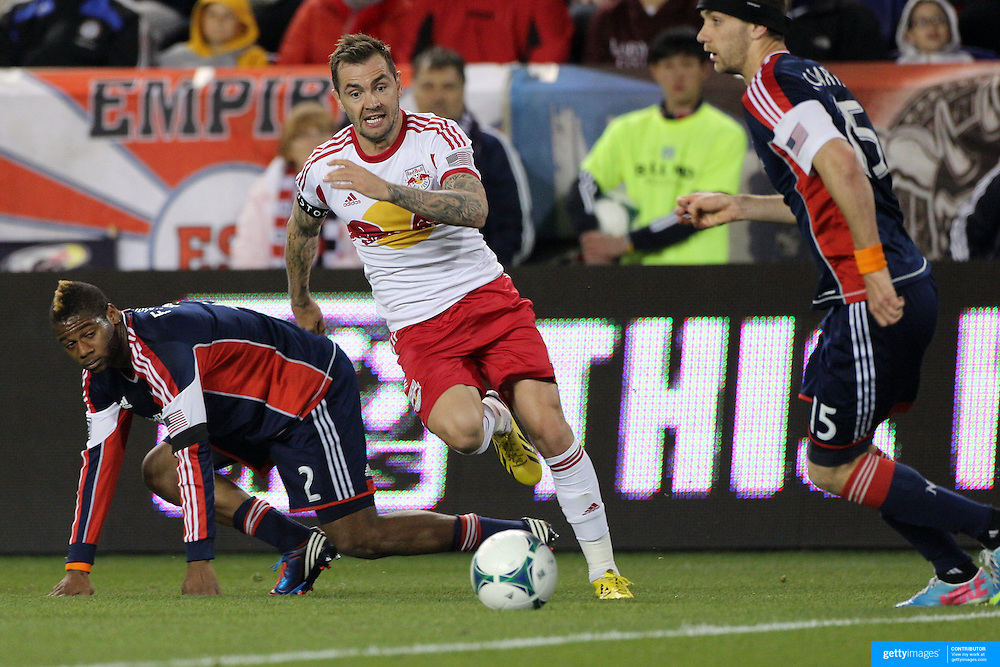 Jonny Steele, New York Red Bulls, in action during the New York Red Bulls V New England Revolution, Major League Soccer regular season match at Red Bull Arena, Harrison, New Jersey. USA. 20th April 2013. Photo Tim Clayton
