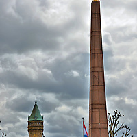 Monument of Remembrance Obelisk in Luxembourg City, Luxembourg<br />