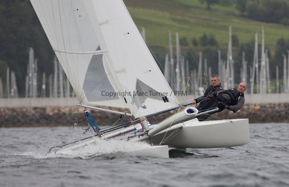 Caledonia MacBrayne Largs Regatta Week 2016<br /> <br /> 2 handed race - David and Ian Kent on Drookit<br /> <br /> Credit Marc Turner / PFM Pictures.co.uk