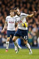 Nabil Bentaleb of Tottenham Hotspur in action - Photo mandatory by-line: Rogan Thomson/JMP - 07966 386802 - 30/11/2014 - SPORT - FOOTBALL - London, England - White Hart Lane - Tottenham Hotspur v Everton - Barclays Premier League.