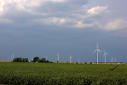 03Sep2011: White Oak Wind Farm McLean County, Illinois..This image is a High Dynamic Range image (HDR).  It may or may not recreate the scene in a proper or historic manner.  If used editorially it should be captioned as an illustration.