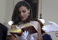 073019 Queen Letizia Of Spain Visit National Library