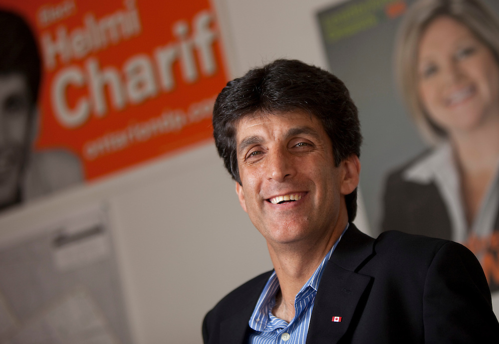 Windsor, Ontario ---11-09-02--- Helmi Charif, Windsor West NDP candidate poses for a photograph in his campaign office in Windsor, Ontario, September 2, 2011.<br /> <br /> GEOFF ROBINS The Globe and Mail
