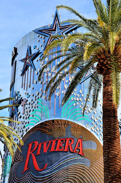 Riviera Hotel Tower and Marquee in Las Vegas, Nevada <br /> The list of famous people who performed at the Riviera reads like a who&rsquo;s who in entertainment since the hotel and casino opened as the first high-rise on Las Vegas Boulevard South in 1955.  The Marx Brothers and Dean Martin once owned minority interests. Unfortunately, the old dame has lost much of its luster and star appeal as so many grand hotels and casinos were added further south on the Las Vegas Strip.