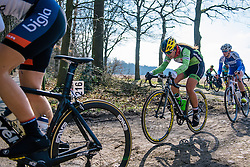 Rachele Barbieri more used to the smooth boards of the track than the bumpy Drenthe lanes - Ronde van Drenthe 2016, a 138km road race starting and finishing in Hoogeveen, on March 12, 2016 in Drenthe, Netherlands.
