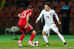 October 5, 2017 - Yerevan, Armenia - Rafal Wolski (POL), Kamo Hovhannisyan (ARM), during the FIFA World Cup 2018 qualification football match between Armenia and Poland in Yerevan on October 5, 2017. (Credit Image: © Foto Olimpik/NurPhoto via ZUMA Press)