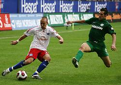 Football - soccer: germany first division, 1. Bundesliga, 2007/2008, Hamburger SV (HSV) - VfL Wolfsburg, .Miso Brecko (HSV), Facundo Hernan Quiroga (VfL) .copyright: SPORTIDA / HOCH ZWEI / Henning Angerer