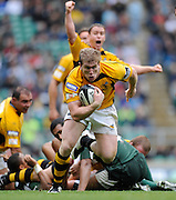 Twickenham, GREAT BRITAIN, Wasps, Tom REES run's in to score a second half try after picking the ball out of ruck, during the Guinness Premiership match,  London Irish vs London Wasps, at Twickenham Stadium, Surrey on Sat 06.09.2008. [Photo, Peter Spurrier/Intersport-images]