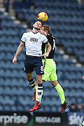 Preston North End midfielder Alan Browne (8) and Brighton & Hove Albion central midfielder Steve Sidwell (14) during the EFL Sky Bet Championship match between Preston North End and Brighton and Hove Albion at Deepdale, Preston, England on 14 January 2017.