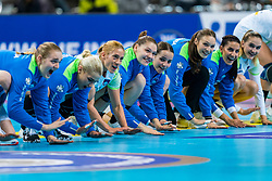 30-11-2019 JAP: Netherlands - Slovenia, Kumamoto<br /> First day 24th IHF Womenís Handball World Championship, Netherlands lost the first match against Slovenia with 26 - 32. / Team Slovenia