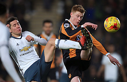 Manchester United's Ander Herrera (left) and Hull City's Sam Clucas battle for the ball