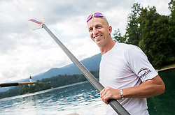 Jani Klemencic of Slovenian rowing team 25-years after Olympic medals in Barcelona 1992 at practice session preparing for World Rowing Masters Regatta Bled 2017, on July 13, 2017 at Lake Bled, Slovenia. Photo by Vid Ponikvar / Sportida
