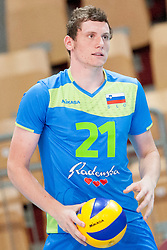 Toncek Stern #21 of Slovenia during volleyball match between National Teams of Slovenia and FRY Macedonia of 2014 CEV Volleyball European League Man - Pool B, on July 5, 2014, in Arena Ljudski vrt Lukna, Maribor, Slovenia, Slovenia. Photo by Urban Urbanc / Sportida
