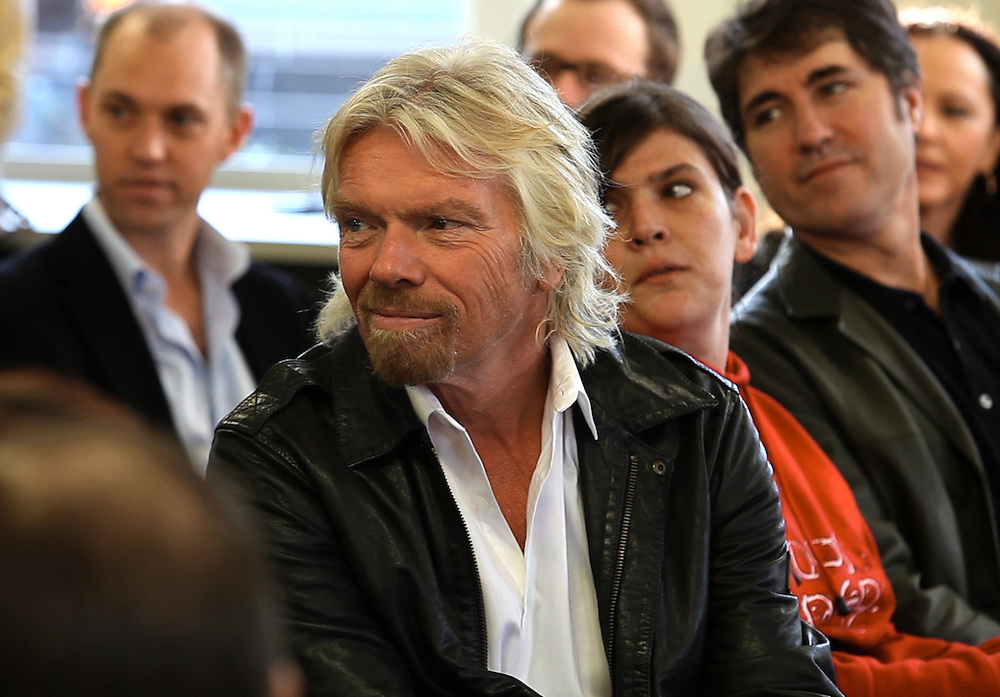 Sir Richard Branson at Oasis Youth Support Network in Sydney Australia