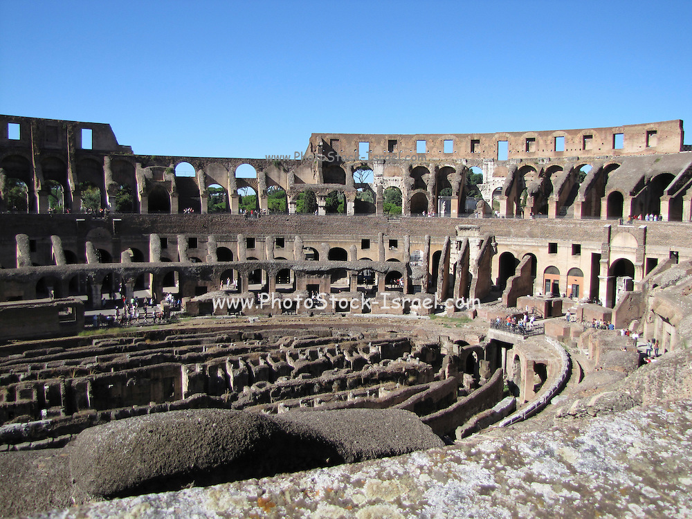 Italy, Rome, Interior of The Colosseum