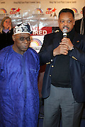 """l to r: Former President of Nigeria, The Honorable Olusegun Obasanjo, Rev. Jesse Jackson at the opening reception of The 12th Annual RainbowPUSH Wall Street Project Economic Summit """" Fallout From The Bailout: A New Day in Washington """""""