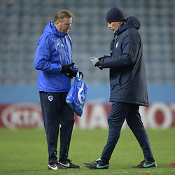 November 28, 2018 - Malmo, SWEDEN - Genk's assistant coach Jos Daerden and Genk's head coach Philippe Clement pictured during the training session of Belgian soccer team KRC Genk in Malmo, Sweden, Wednesday 28 November 2018. Genk will meet Swedish club Malmo on the fifth day of the UEFA Europa League group stage, in group I. BELGA PHOTO YORICK JANSENS (Credit Image: © Yorick Jansens/Belga via ZUMA Press)