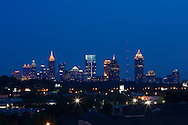 A view of downtown Atlanta, Georgia and some of the urban sprawl that surrounds it.