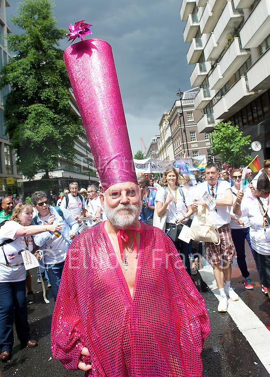 Pride in London <br /> Parade and Rally from Baker Street to Trafalgar Square, London, Great Britain <br /> 28th June 2014 <br /> 300,000 people lined the streets with 200 floats taking part including many groups, charities, companies, organisations, police &amp; the armed forces.