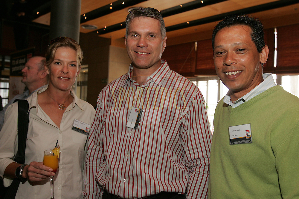 CAPE TOWN, SOUTH AFRICA - 27 October 2009 Erica Green Tiaan Strauss and Victor Sables during the official launch of the ABSA Cape Epic route for 2010 held at The Marimba Restaurant in the CTICC, Cape Town.Photo by: SPORTZPICS/ ABSA Cape Epic