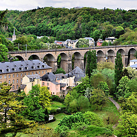 Passerelle Old Bridge in Luxembourg City, Luxembourg <br />