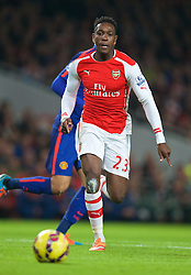 LONDON, ENGLAND - Saturday, November 22, 2014: Arsenal's Danny Welbeck in action against Manchester United during the Premier League match at the Emirates Stadium. (Pic by David Rawcliffe/Propaganda)