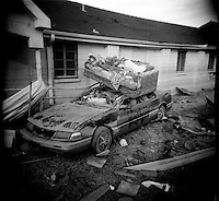 A dead and desolate landscape are all thats left of  the once lively streets of the lower ninth ward over a month after hurricane katrina made lanfall 8 October 2005 New Orleans Louisiana.  (photo by Darren Hauck)
