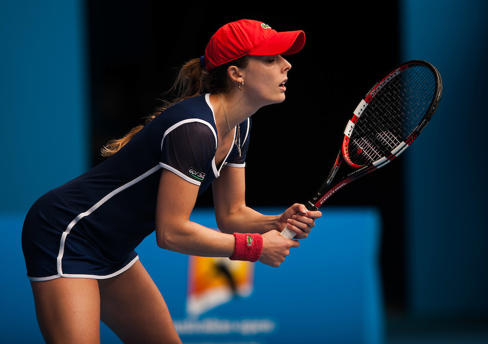 ALIZA CONET (FRA) faced M. Sharapova (RUS) in Women's Singles action in Day Six of the Australian Open. Sharapova won the morning match 6-1, 7-6 (6) at Melbourne's Rod Laver Arena. ALIZA CORNET.