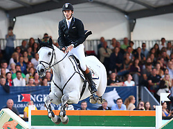 20.09.2014, Magna Racino, Ebreichsdorf, AUT, Vienna Masters 2014, Global Champions Tour Grand Prix, im Bild Stefan Eder auf Opus PSG (AUT) // during Vienna Masters 2014 Global Champions Tour Grand Prix at the Magna Racino, Ebreichsdorf, Austria on 2014/09/20. EXPA Pictures © 2014, PhotoCredit: EXPA/ Thomas Haumer