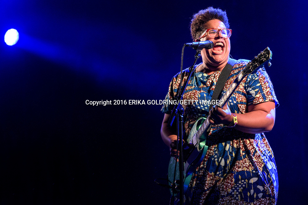 GULF SHORES, AL - MAY 20:  Brittany Howard of Alabama Shakes performs on May 20, 2016 in Gulf Shores, Alabama.  (Photo by Erika Goldring/Getty Images)