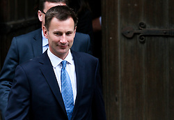 © Licensed to London News Pictures. 28/05/2012. London,Britain.Jeremy Hunt leaves the Leveson Inquiry in the Royal Courts of Justice. Photo credit : Thomas Campean/LNP..
