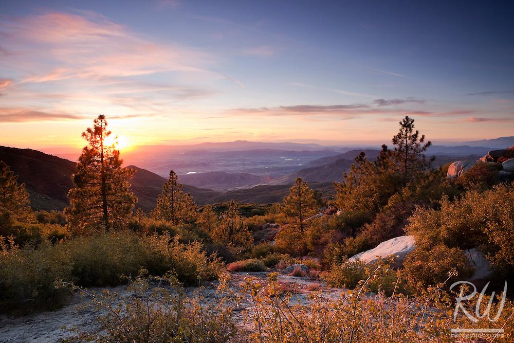 Indian Vista Scenic View from San Jacinto Mountains, San Bernardino National Forest, California