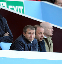 Roman Abramovic Chelsea owner watches the Barclays Premier League match between Aston Villa and Chelsea at Villa Park on February 21, 2009 in Birmingham, England.
