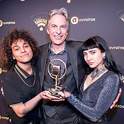 NLD/Hilversum/20180125 - Gouden RadioRing Gala 2017, Adam Curry en dochter Christina Curry en haar partner Shenta Ignasio
